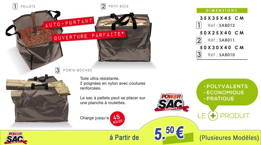Sac Pellets - Bûches - Petit Bois