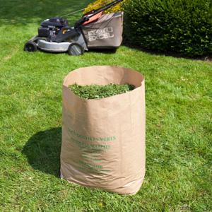 grand sac papier dechets vegetaux 100l